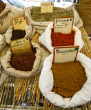 Spices on the market Stock Photography