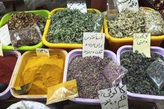 Spices Market in Grand Bazaar, Tehran Royalty Free Stock Photos