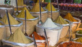 Spices market in India, North Goa, Arambol Royalty Free Stock Photo