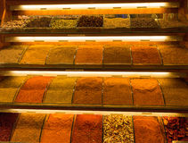 Spices in the market in Istanbul. The Istanbul Spice Market - spices for sale Stock Photos