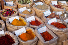 Spices at market Royalty Free Stock Image