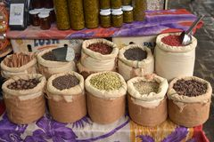 Spices at the market in Mauritius royalty free stock images