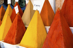 Spices on a market in Morocco, Africa Royalty Free Stock Photography