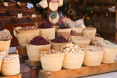 Spices market of Nubia Egypt. Egypt, Aswan old market of Nubia Egypt Aswan 20 September 2017 Royalty Free Stock Photography