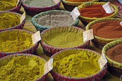 Spices in a market in Provence,France. A nive view of colored market Stock Photo