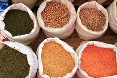 Spices at a market in Sri Lanka Royalty Free Stock Images
