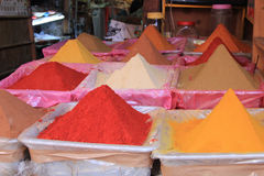 Spices at Marrakesh market stock images
