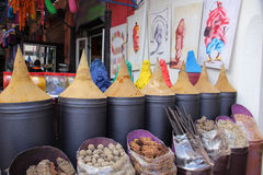 Spices at Marrakesh market royalty free stock images