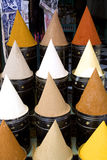 Spices at matket. Cones of spices in a market of ethnic africa Royalty Free Stock Photo