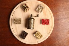 Spices and Mill Stock Image