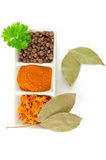Spices. Mix of different herbs Royalty Free Stock Photo