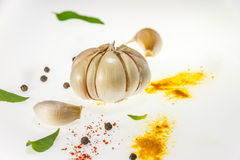 The spices mix on white background. Royalty Free Stock Photo