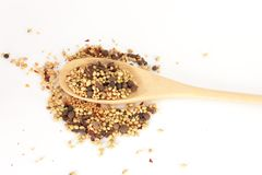 Spices mixed over the spoon Royalty Free Stock Photos