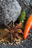 Spices in mortar