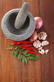 Spices and mortar Royalty Free Stock Photography