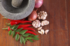 Spices and mortar Royalty Free Stock Images