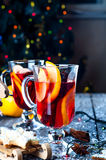 Spices and mulled wine Stock Photos