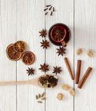 Spices for mulled wine Royalty Free Stock Photos
