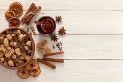 Spices for mulled wine Royalty Free Stock Photography