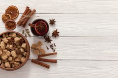 Spices for mulled wine Stock Photos