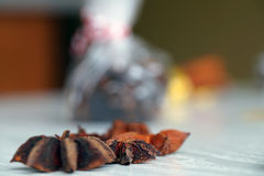 Spices for mulled wine, star anise. Stock Images