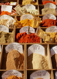 Spices in Nice, France. Spices for sale in old markets in Nice Stock Photos