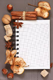 Spices notebook. Stock Photography