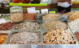 Spices, nuts and vegetables Stock Image