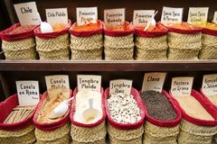 Spices in open air market Stock Images