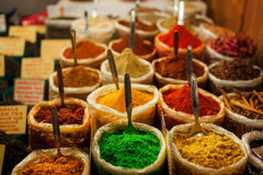 Spices at outdoor market. Stock Images