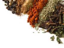 Spices over white Stock Photo