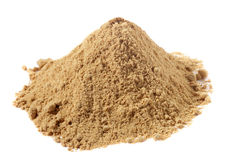 Spices - pile of Ginger powder over white Stock Photos