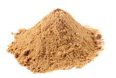 Spices - Pile Of Ginger Powder Over White Royalty Free Stock Photography