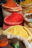 Spices Piled high in Bags stock photo