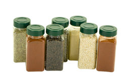 Spices in Plastic Containers Royalty Free Stock Image