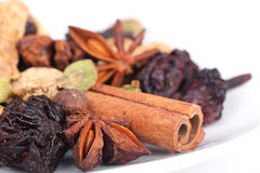 Spices for preparation mulled wine Stock Photo