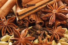 Spices for preparation mulled wine: christmas drink Stock Photo
