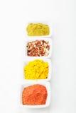 Spices in a row Stock Photos