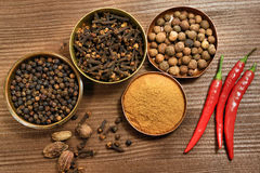 Spices rustic composition Royalty Free Stock Image
