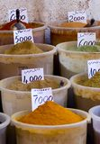 Spices for Sale Stock Image