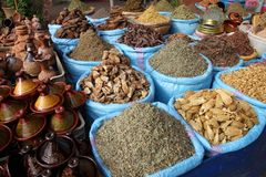 Spices for sale Royalty Free Stock Photos