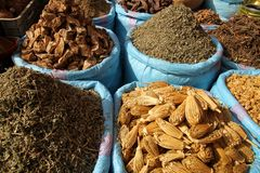 Spices for sale Royalty Free Stock Image