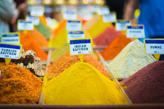 Spices for sale at the Egyptian Bazaar, aka the spice market Royalty Free Stock Images
