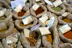 Spices For Sale At Market Royalty Free Stock Photography
