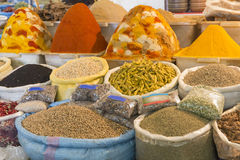 Spices for sale on a market in Morocco Royalty Free Stock Photo