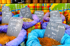 Spices on sale on a market stall Royalty Free Stock Photography