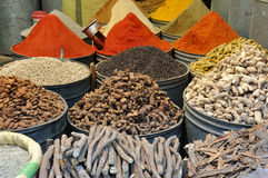 Spices for sale in Morocco Royalty Free Stock Images
