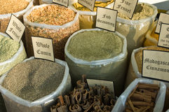 Spices for sale in open market Stock Images