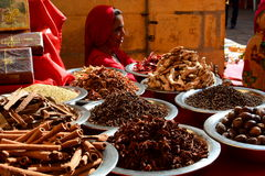 Spices for sale in a shop. Jaisalmer. Rajasthan. India Royalty Free Stock Photography