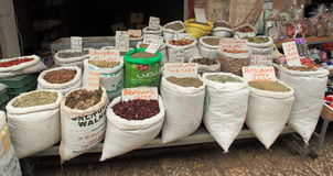 Spices for Sale in the Souk or Souq in Akko Stock Image